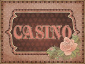 Vintage casino background, vector illustration — Stock Vector