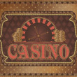 Old vintage casino background with golden money, vector illustration — Stock Vector #40133693