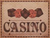 Old vintage casino background, vector illustration — Stockvektor