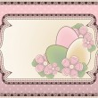 Easter background in vintage style, vector illustration — Stock Vector