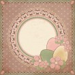 Easter greeting card in vintage style, vector illustration — Stock Vector