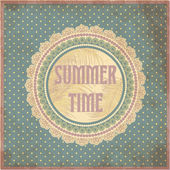 Summer time card in vintage style, vector illustration — Vector de stock