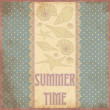 Summer time scrap card in vintage style , vector — Stock Vector