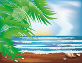 Summer Tropical wallpaper. vector illustration — Stock Vector