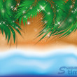 Summer time background. vector illustration — Stock Vector #46165925