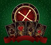 Casino poker background, vector illustration — Stock Vector