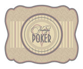 Vintage poker hearts label, vector illustration — Stock Vector