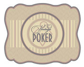 Vintage poker diamonds label, vector illustration — Stock Vector