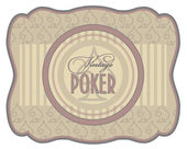 Vintage poker spades label, vector illustration — Stock Vector