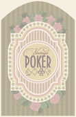 Vintage casino poker card, vector illustration — Stok Vektör