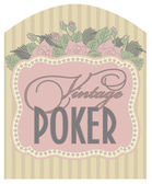 Casino vintage poker card, vector illustration — Stockvector