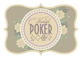 Old casino poker card, vector illustration — Stock Vector