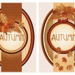 Seasonal autumn banners, vector illustration — Stock Vector #50472501
