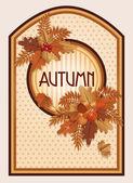 Vintage autumn card, vector illustration — Stock Vector