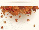 Autumn seasonal banner, vector illustration — Stock Vector