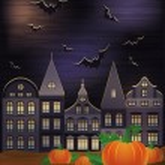 Happy Halloween wallpaper, vector illustration — Stock Vector #51622709