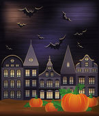Happy Halloween wallpaper, vector illustration — Stockvektor