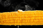 Hot boiled corn — Stock Photo
