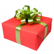 Gift box present red — Stock Photo