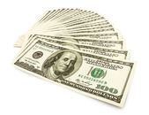 Money cash fan — Stock Photo