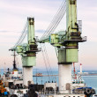 Barge crane — Stock Photo