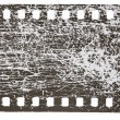 Stock Photo: Filmstrip scratched