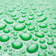 Stock Photo: Water drops green