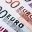 Stock Photo: Euro banknotes closeup