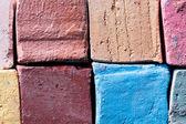 Chalks pieces coloful — Photo