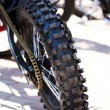 Motorcycle wheel tire — Stock Photo