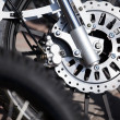 Motorcycle wheel breaks — Stock Photo
