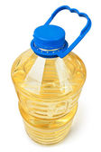 Sunflower oil bottle big — Stock Photo