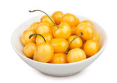 Cherry yellow bowl — Stock Photo