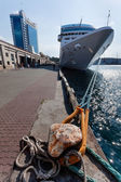 Port passenger ship — Stock Photo