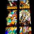 Stained glass with motion blur - Stock Photo
