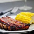 BBQ spareribs - Stock Photo