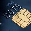 Credit card with gold chip — Stock Photo