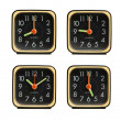 Small clocks showing various time of the day — Stock Photo #13580516