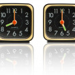 Small clocks showing 8 to 5 — Stock Photo