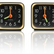 Stock Photo: Small clocks showing 8 to 5