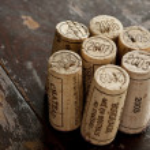 Bordeaux red wine bottle corks — Stock Photo #13580542