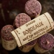 Bordeaux red wine bottle corks - Stock Photo
