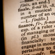 Closeup of the word finance — Stock Photo