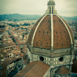 Stock Photo: Top view of Duomo cathedral in Florence, Italy