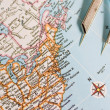 Closeup of a map with new york usa — Stock Photo
