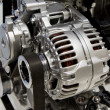 Closeup of an internal combustion engine — Stock Photo