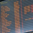 Departure arrival board airport — Stock Photo #13580918