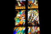 Stained glass with motion blur — Stock Photo