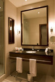 Elegant hotel or apartment bathroom — Stock Photo