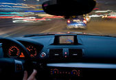 Car motion moving very fast — Stock Photo